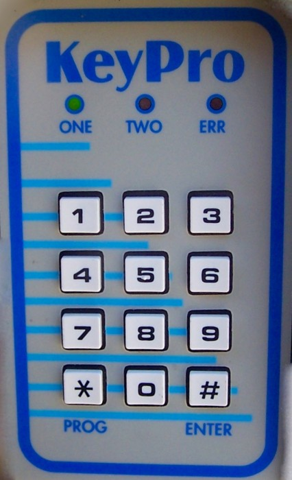 Keypad at gate