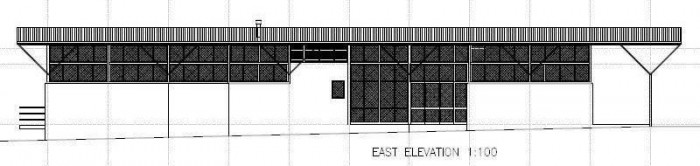 New Central Resort Facilities Plans - East Elevation