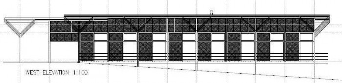 New Central Resort Facilities Plans - West Elevation