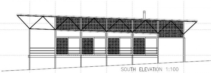 New Central Resort Facilities Plans - South Elevation