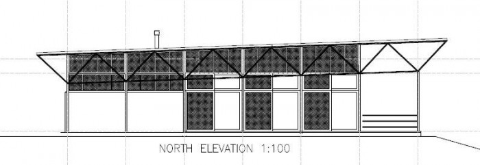 New Central Resort Facilities Plans - North Elevation
