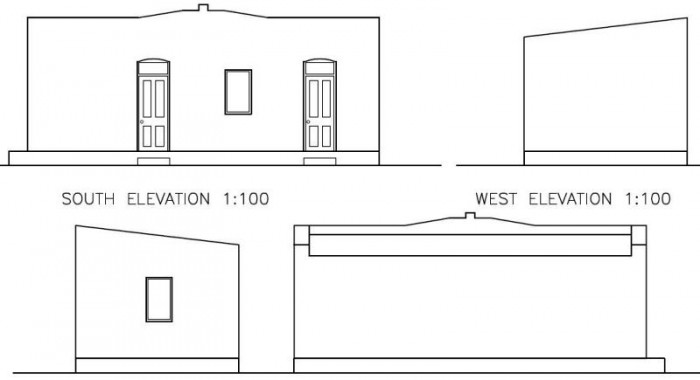 School restoration elevations