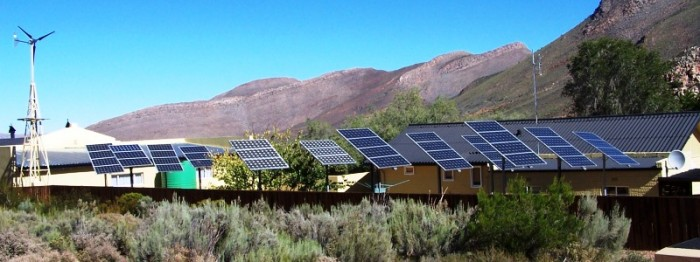 Renewable electricity system at staff housing complex