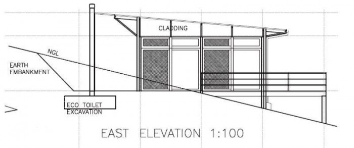 East Elevation - Three-bedroom Holiday Homes