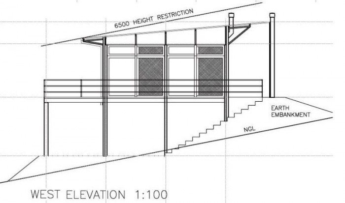 West Elevation - Three-bedroom Holiday Homes
